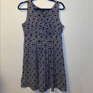 Lands' End Blue/White Dress